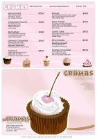 Cup Cake Store Ad with two spot colors by kfairbanks
