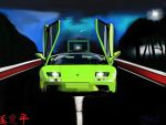 Lamborghini Diablo-lime green by geovailpintor