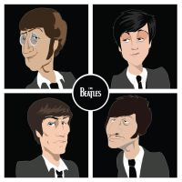 The Beatles by Tlenon