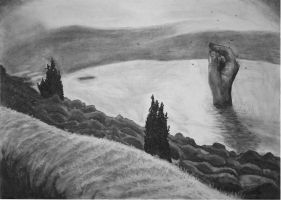 Landscape/Hand by lior2211