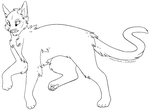 Feline Lineart [MS Paint Version] by INDUSTRIAL-SURGERY