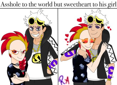 Asshole To The World But Sweetheart To His Girl by LvKO-King