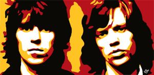Keith and Mick by BetoPoetaMaldito
