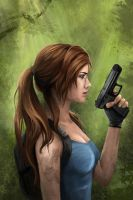 Ms. Croft -Tomb Raider 20 year Anniversary by Pencilsketches