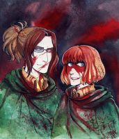 SNK Hanji and Armin by MaryIL