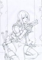 CROSS:Marshe line art by AKirA-FreedoM