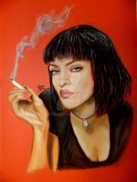 Uma Thurman, Pulp Fiction by whoisangie