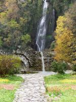 Waterfall Garden by lilleypants