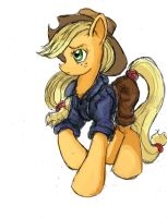Applejack - The Rough Rider by TheLivingShadow