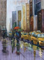 Rainy NYC by Wulff-Arts