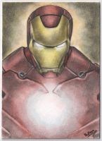 Iron Man ACEO by superupaman