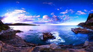 Blue-paradise-blue-clouds-cool-ocean-rocks-sky by Zeta-Zed