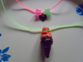 Punk Ice Cream Necklace by UtterPsychosis