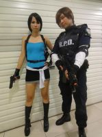 Jill Valentine and Leon S. Kennedy by Voclas