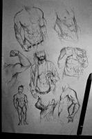 doodles practice - male body by Nasuki100