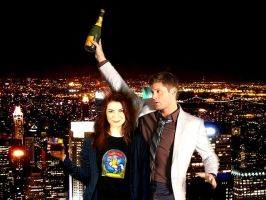 Dean/Charlie - Party Hard 8 in night city by Crowleysbestfriend