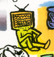 Little Marker Monster: Television Head by jbyrd117