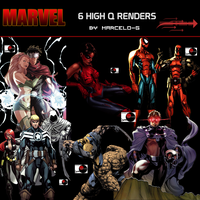 2 Marvel Comics Render Pack by marcelo-g