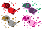 Adoptable Space Birds (5pts.) (4/4 OPEN) by ricinade