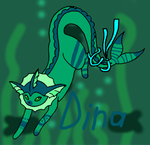 Dina in the deep sea by PikachuSilvia