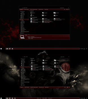 The Red Theme for Windows 10 Anniversary Update by gsw953onDA