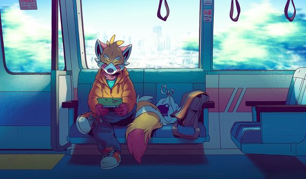 Train Ride by Orangetavi