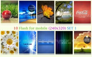 10 Mobile Flashes SET1 by midhunstar