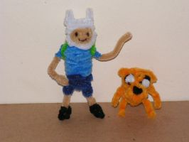 Finn and Jake by fuzzyfigureguy