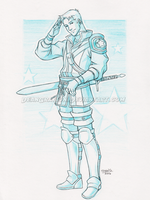 Captain America Knight!AU by DeanGrayson