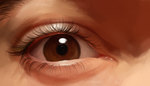 Painting practice: Eye by DaniiRoo