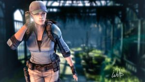 Jill Valentine: Secret Garden by LoneWolf117