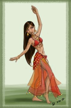 Bellydancer in Red by bellsandy