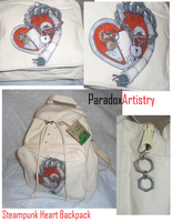 Steam Punk Heart - Backpack by Paradox-Artistry