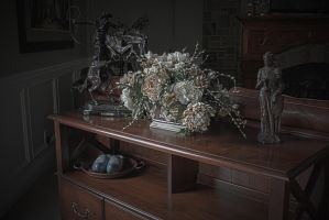 Antique Table HDR by SomeoneNamedTom