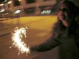 me with my sparklerrrr by Din0saur