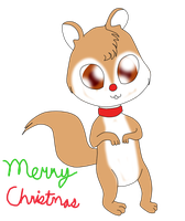 Rudolph the Red Nosed Chipmunk by Bokeol