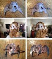 Leather Hair Pins (Dragon and Pegasus) by arabian92Knight