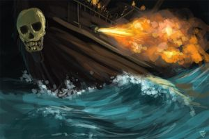 The Pirate King's Vessel by Jeffufu