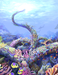 the coral beast - color by etchpea