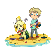 Animal crossing Stuart by VikingMera