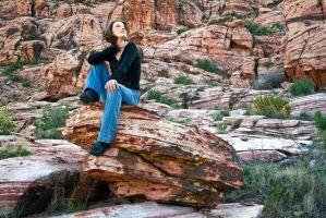 Red Rock Sitting by renonevada