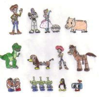 Toy Story Cast by KessieLou
