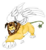 Photoshop colored Manticore by evolra