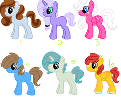 My Little Pony Adoptables +O P E N+ by kidwiizard