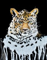 Leopard Painting by Arkinman