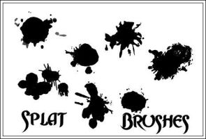 Splat Brushes by Silverweb-Stock