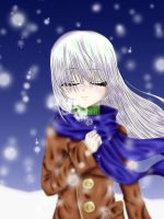 Manga girl in the cold by Coco-of-the-Forest