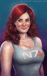 N7 girl with big hair by clc1997
