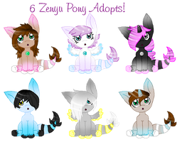 Zenyu Pony Adopts Batch 2 ~Closed~ by Wolfpup5197-Adopts