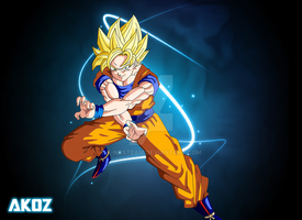 Son Goku Super Saiyan by K-NASTeam